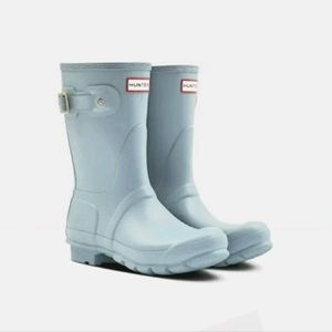 Hunter Wellington Rain Boots Baby Blue Size 6